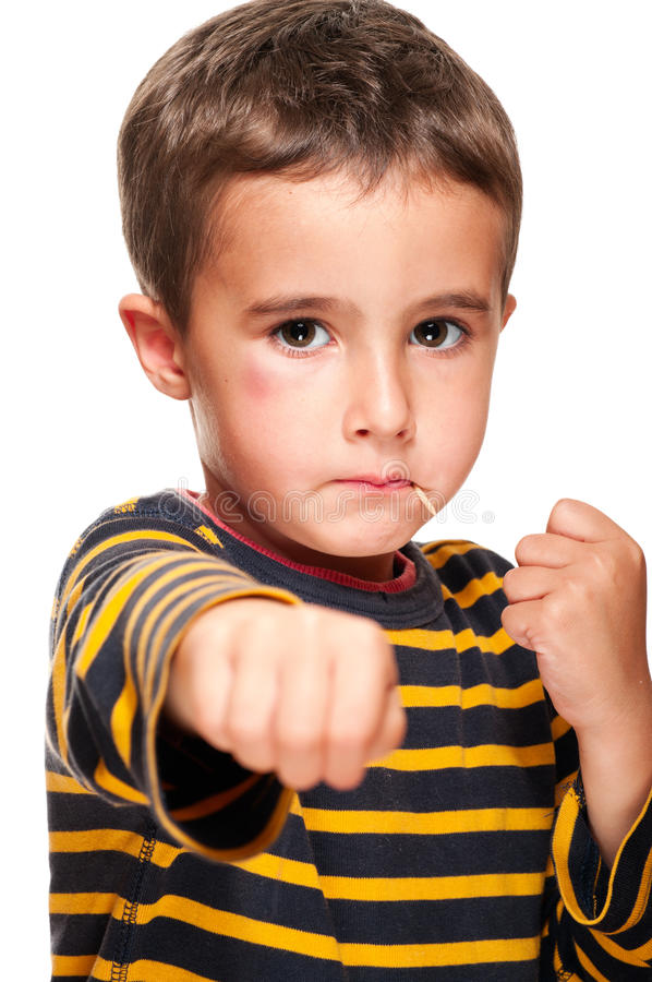 Little bully with toothpick royalty free stock images