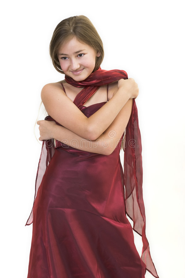 Little burgundy princess 4 stock image