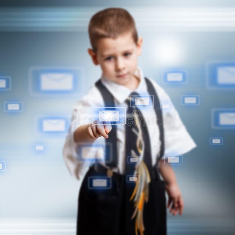 Download Little business boy stock illustration. Illustration of media - 28763372