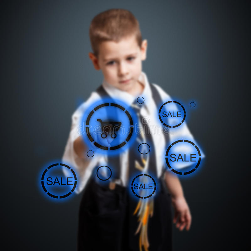 Little Business Boy Royalty Free Stock Image