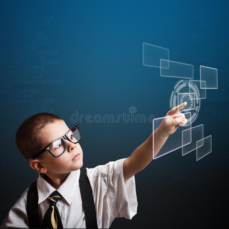 Download Little business boy stock illustration. Image of network - 28804280