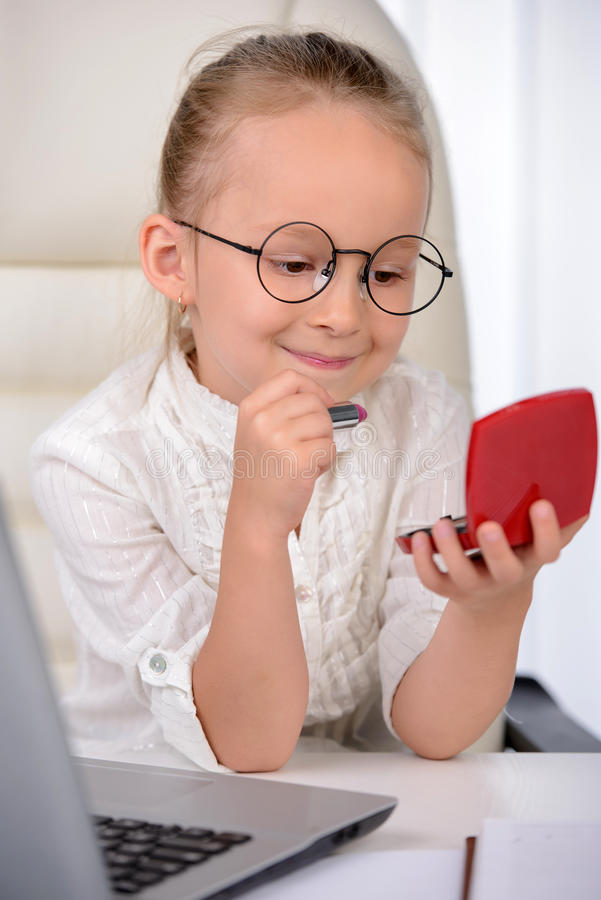 Little Business Lady stock photo