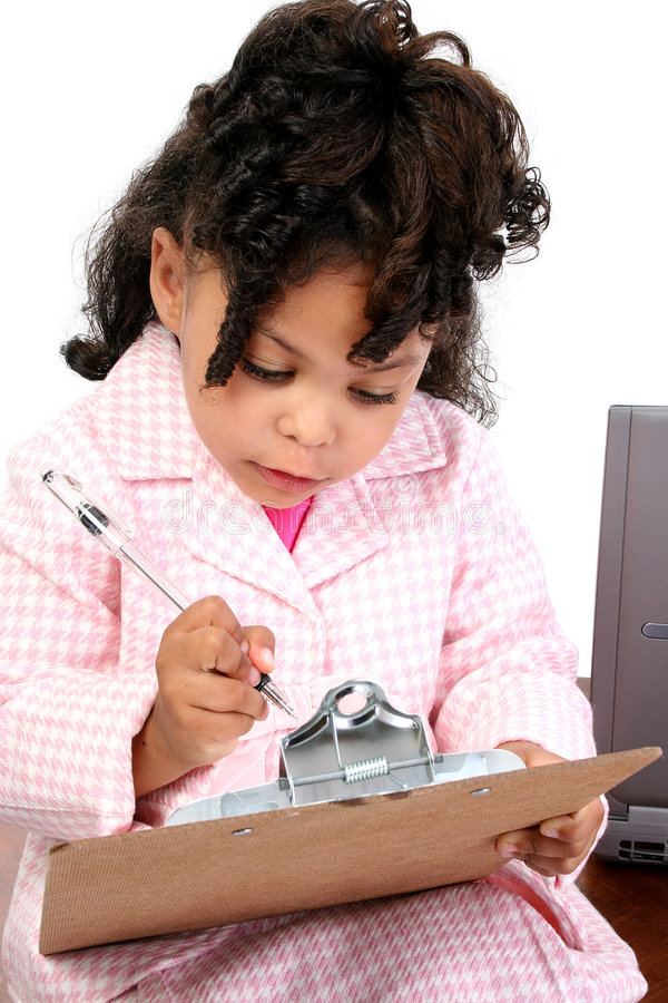 Little Businesswoman stock images