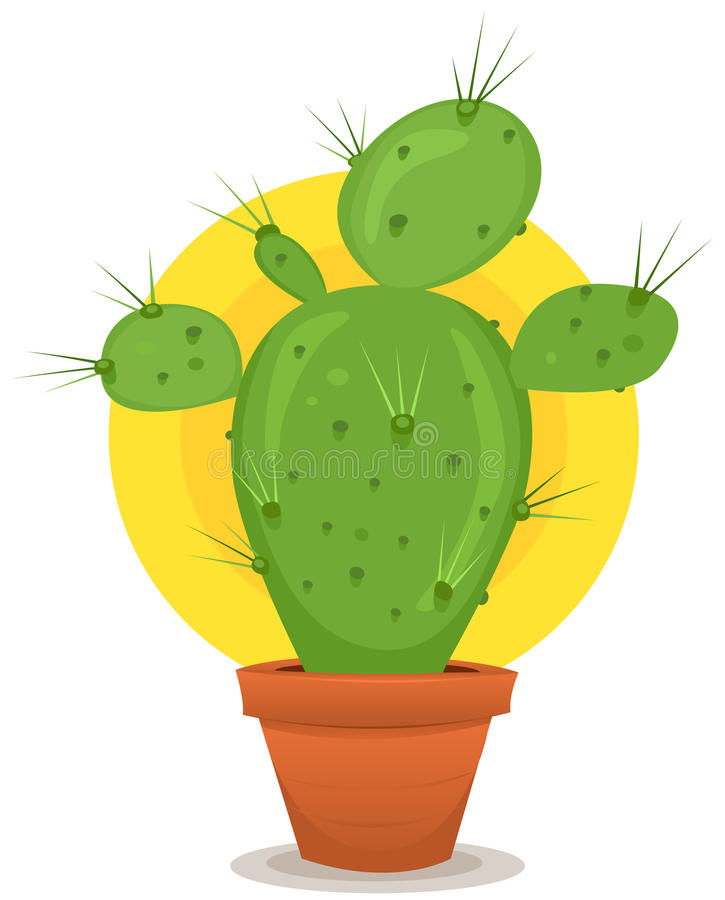 Download Little Cactus In Pot Stock Images - Image: 34102594