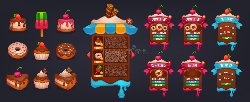 Little Cakes Shop royalty free illustration