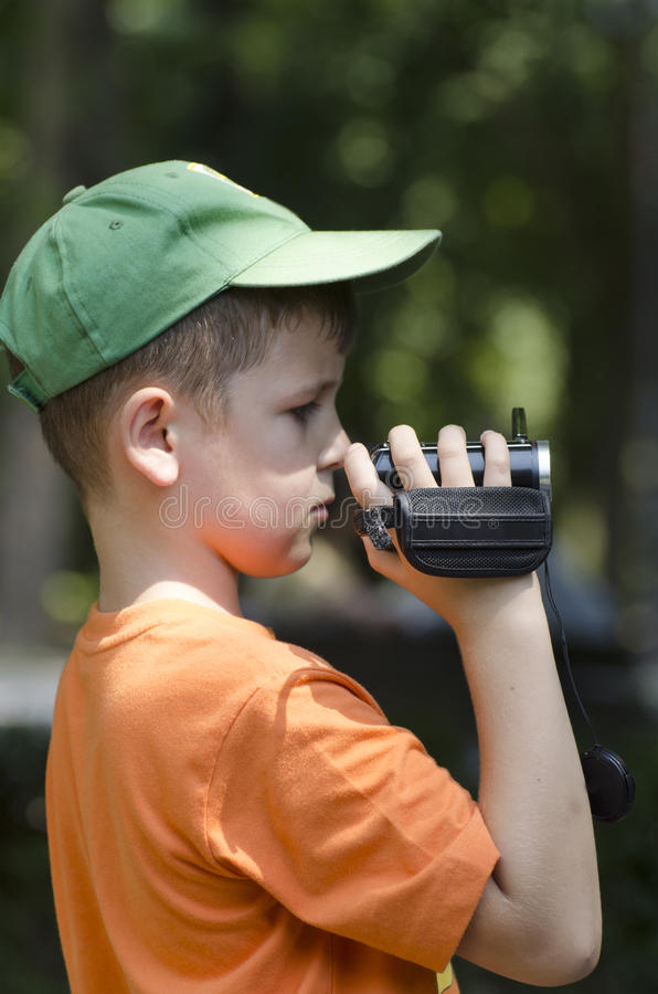 Download Little cameraman stock image. Image of expression, t - 32999351