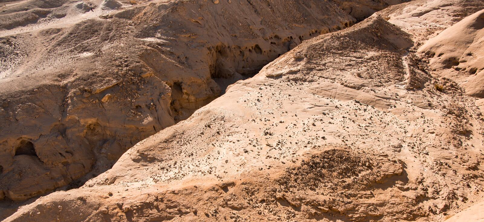 Little canyon in Timna park. Negev desert, Israel. Daytrip from Eilat stock photo