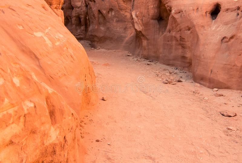 Timna Park. Little canyon in Timna park, Negev desert, Israel. Daytrip from Eilat stock photo