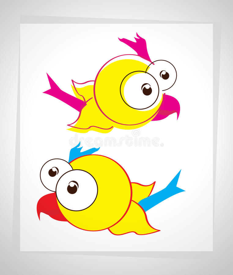 Download Little Cartoon Bird In The Sky. Vector Illustration Stock Vector - Image: 22975689