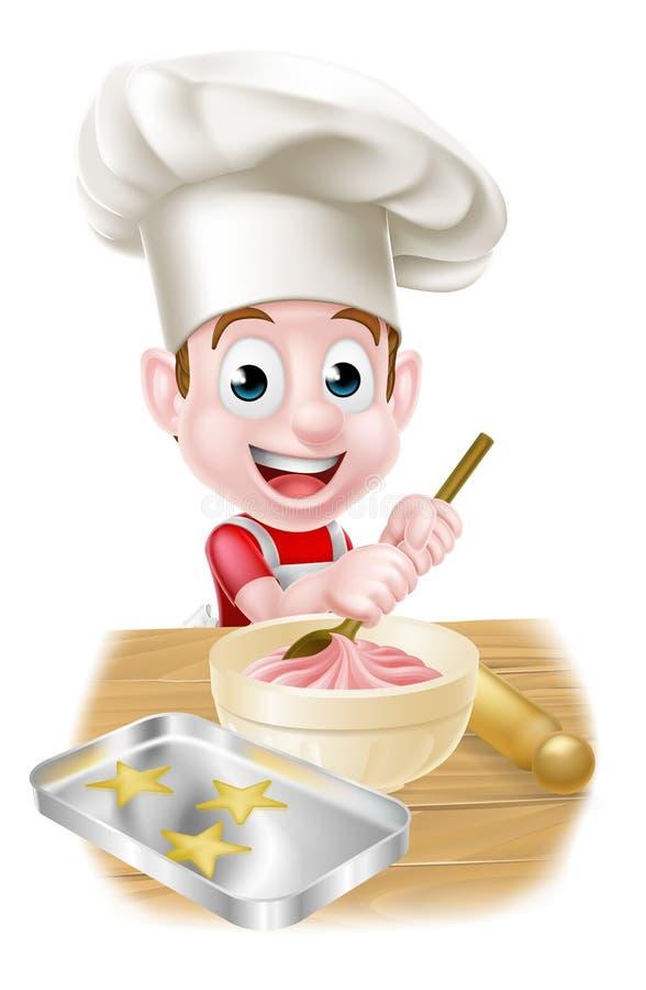 Little Cartoon Boy Baking Stock Vector Image 67631828