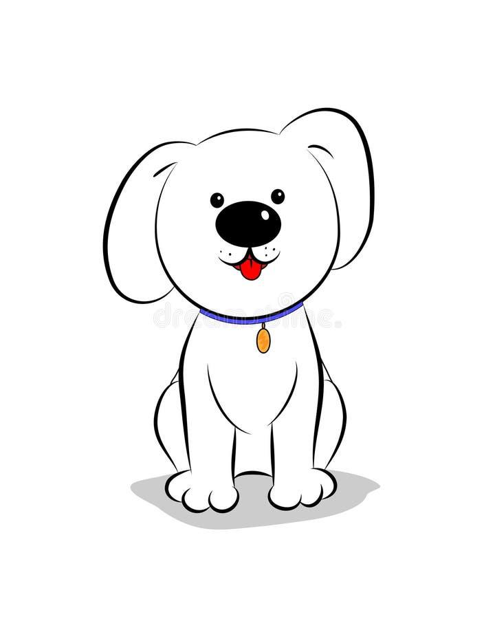 Little Cartoon Dog Sitting Outline Stock Vector Illustration Of Illustration Vector 45026480