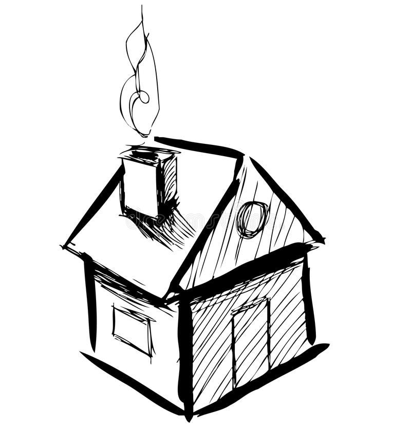 Little cartoon house stock vector illustration of for House sketches from photos