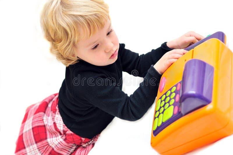 Download Little  cashier stock image. Image of expressive, blond - 11843107