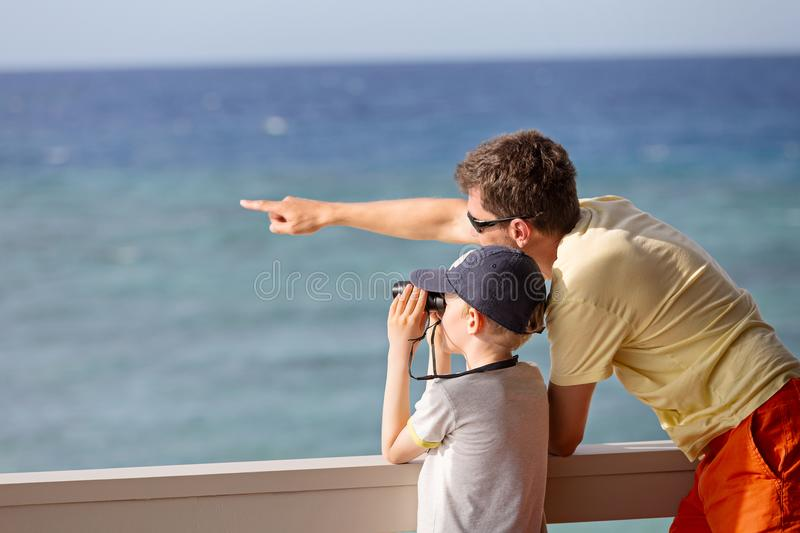 Family at vacation stock images
