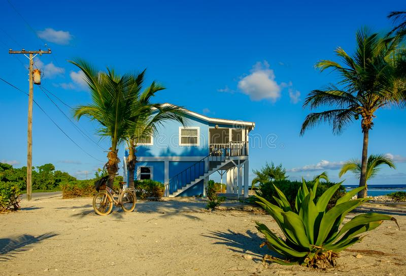 Little Cayman-The Blue House royalty free stock photo