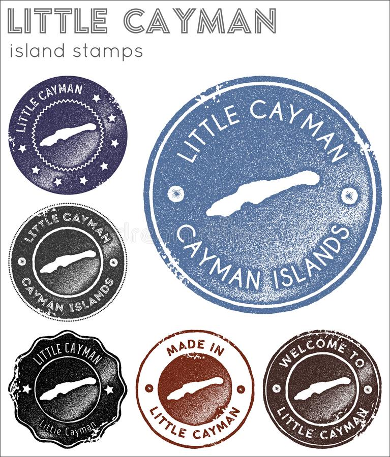 Little Cayman stamps collection. royalty free stock images