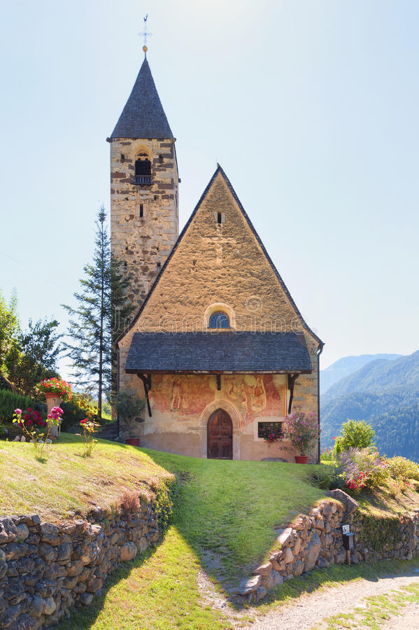 Little chapel in Val Gardena, Dolomites, Italy. Little chapel in Val Gardena, Dolomites, in South Tyrol, in northern Italy. Photo taken on July, 2016 stock photos