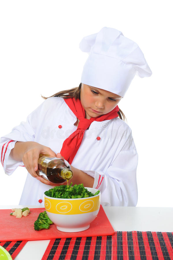 Download Little Chef in uniform. stock image. Image of eating - 25084191