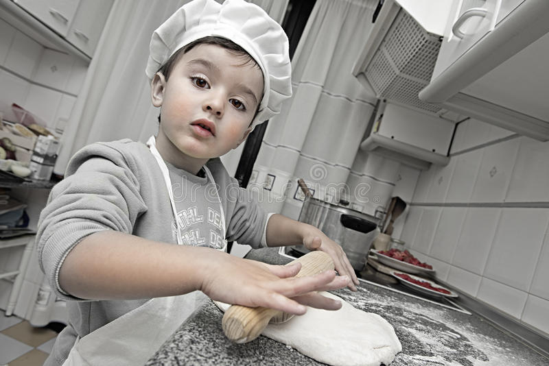 Download Little chef working stock photo. Image of making, cook - 32038504