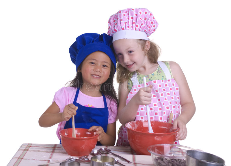 Download Little Chefs stock image. Image of asian, create, bowl - 2810413