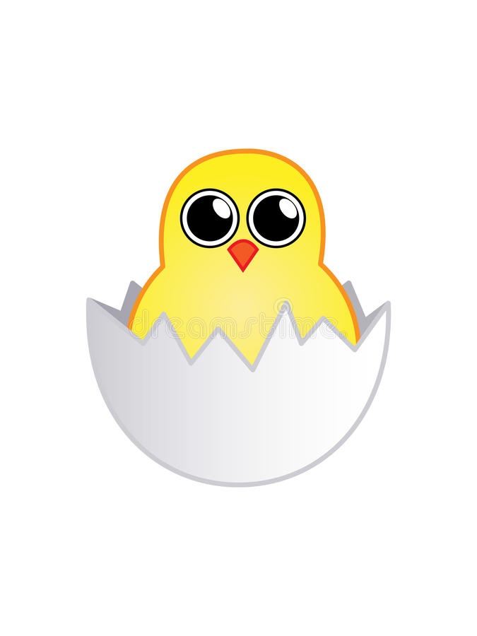 Little chick in the egg stock photo