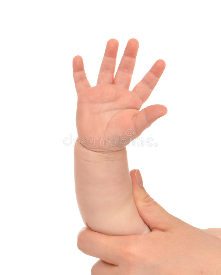 Little child baby kid hand with five fingers royalty free stock image