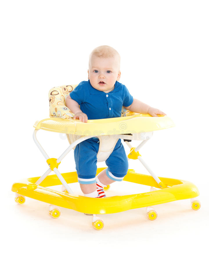 Free Little Child In The Baby Walker. Royalty Free Stock Image - 37282896