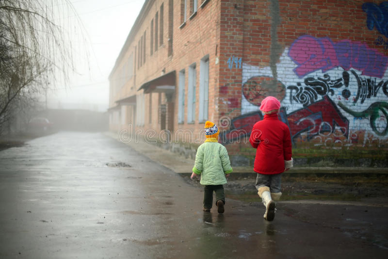 Download Little children stock photo. Image of building, real - 12006778