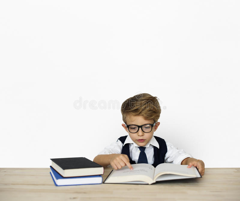 Little Children Posing Working Adult royalty free stock images
