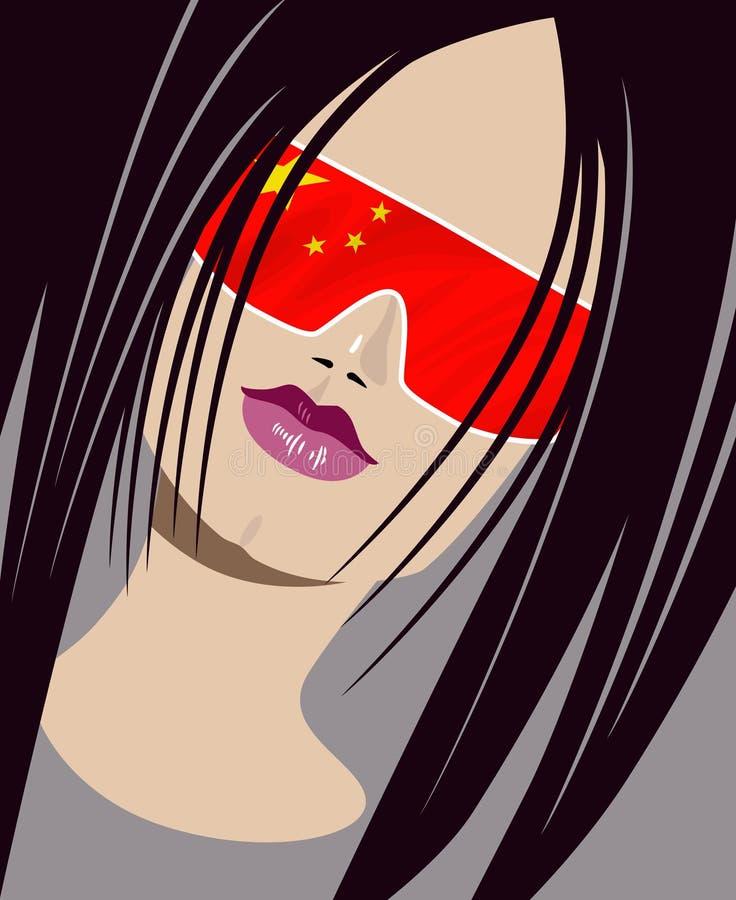 Little_china_girl illustrazione vettoriale