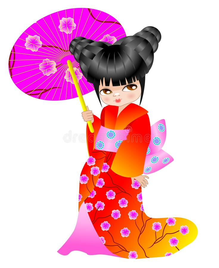 Little Chinese stock illustration