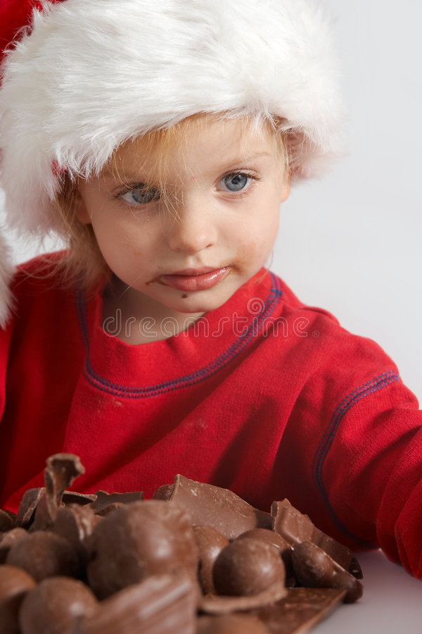 Little Chocolate Santa Royalty Free Stock Photo