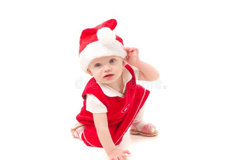 Little christmas baby-girl royalty free stock photography