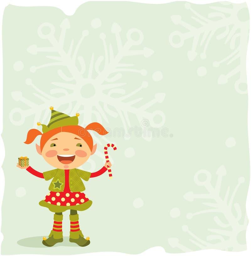 Download Little Christmas Elf stock vector. Illustration of bell - 17271469