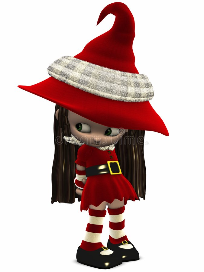 Download Little Christmas Elf-Toon Figure Royalty Free Stock Image - Image: 7085416