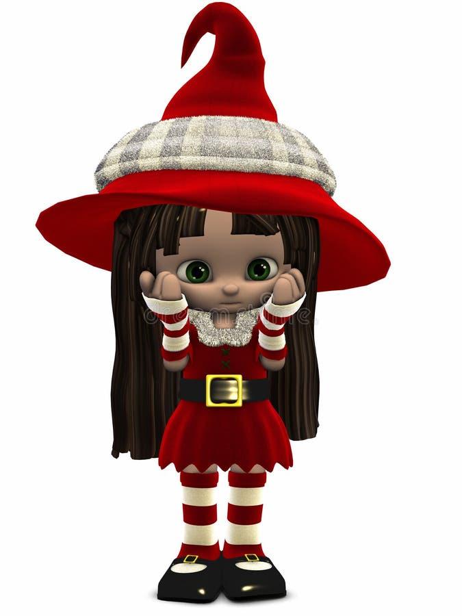 Download Little Christmas Elf-Toon Figure Stock Illustration - Illustration of lovely, christmas: 7085475