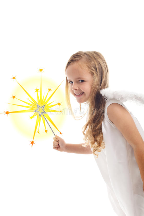 Little christmas fairy stock image