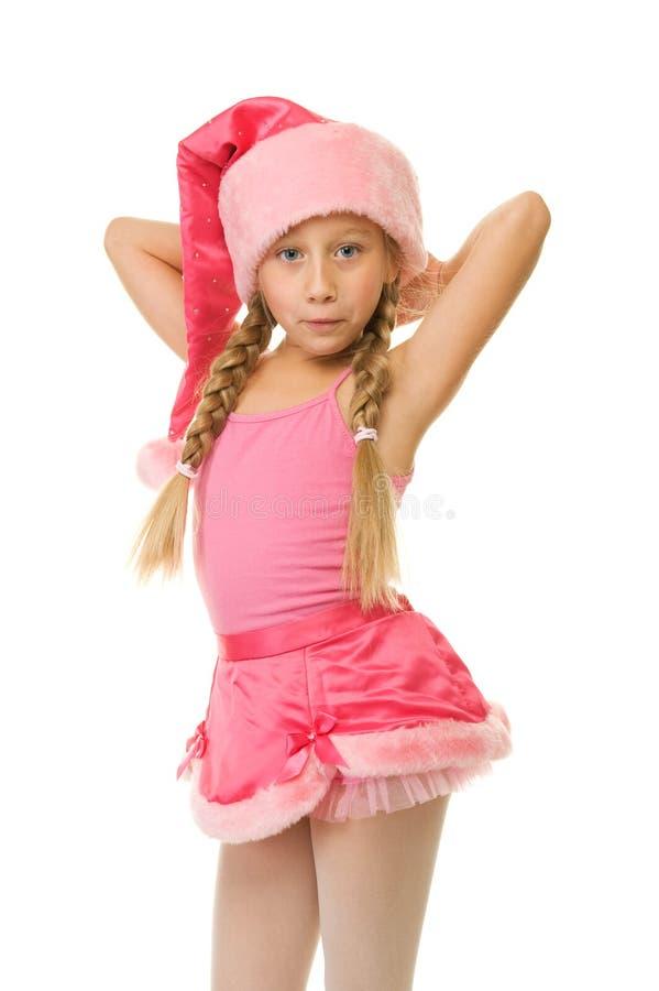 Little christmas girl royalty free stock photos