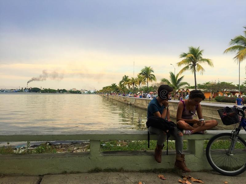 The little city Cienfuegos in Cuba. royalty free stock image