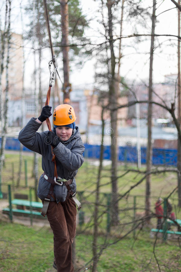 Download Little Climber Passes The Obstacle Stock Photos - Image: 31682543