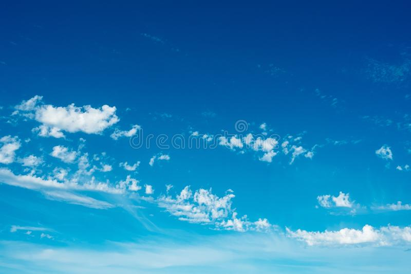 Little clouds blue sky royalty free stock photo