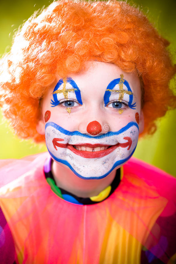 Download Little clown stock photo. Image of girls, funny, grin - 13887306
