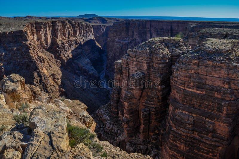 Little Colorado River na região de Navaja, o Arizona, EUA fotografia de stock