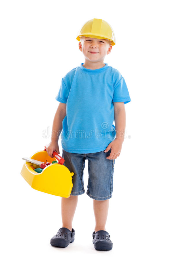 Download Little construction worker stock image. Image of costume - 25364321