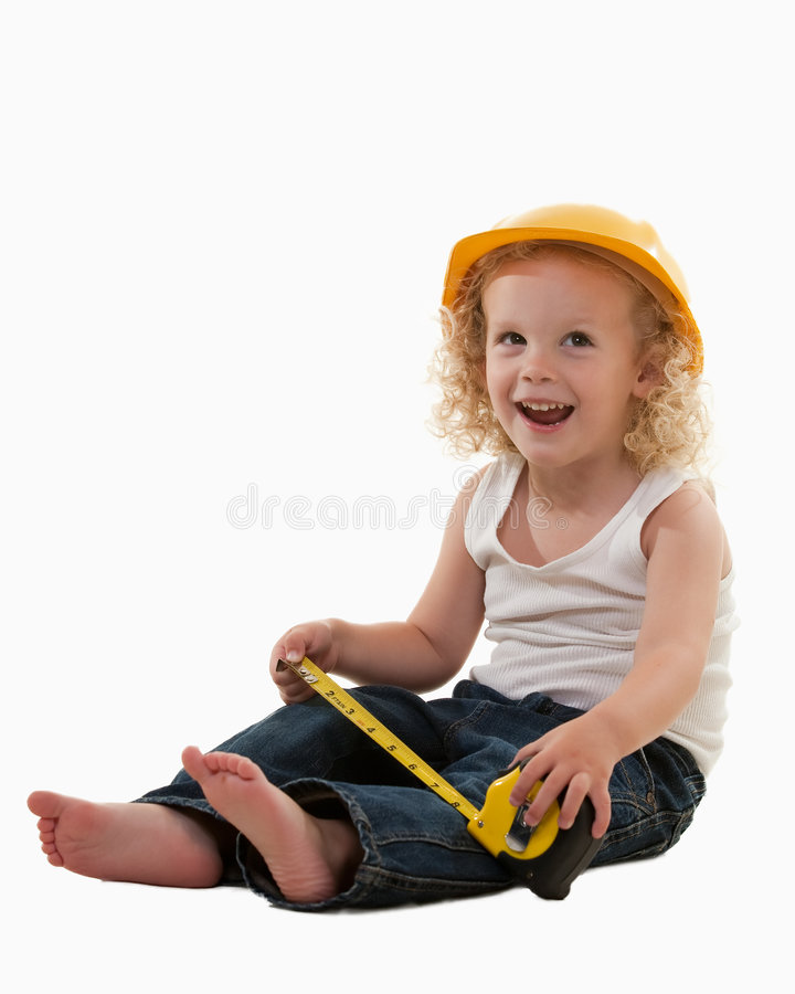 Download Little construction worker stock image. Image of jeans - 8050589