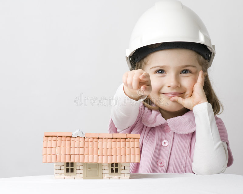 Little constructor royalty free stock image