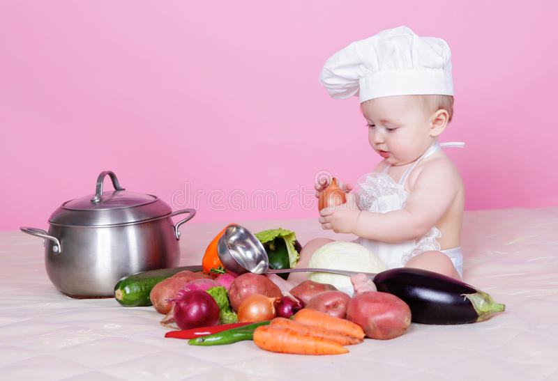 Download Little cook stock image. Image of cute, nutrition, preparation - 23494165