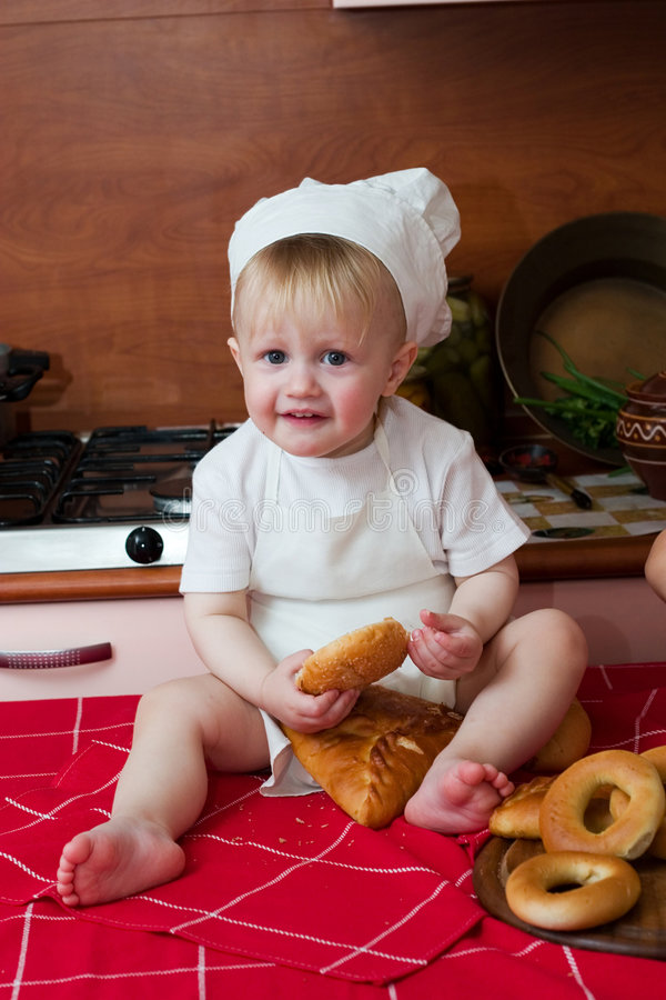 Little cook royalty free stock image