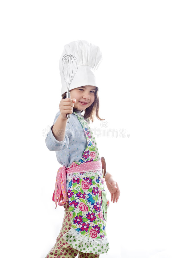 Little cook girl stock photography