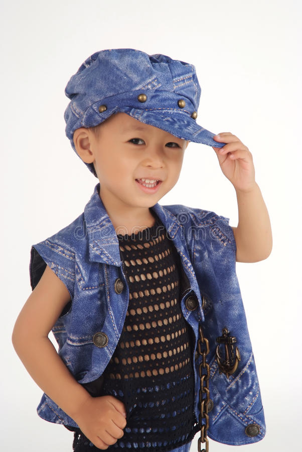 Little cool boy stock images